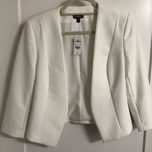 Express Jackets & Blazers - White express blazer size 4 Brand New with Tags!